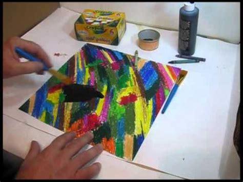 How To Make Scratch Paper - lety ruiz crayon scratch technique doovi