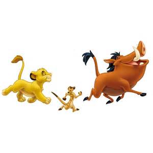 Winnie Pooh Wall Stickers the lion king simba timon amp pumbaa giant stickers great