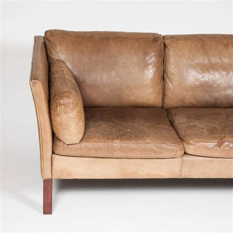 buffalo hide sofa 1970s three seat danish sofa upholstered in brown buffalo