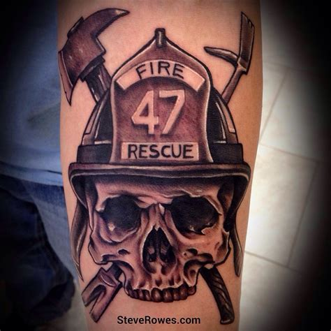 firefighter tattoos sugar skull pictures to pin on