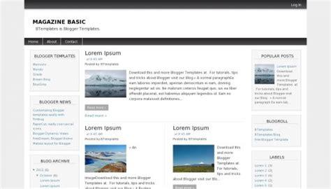 blogger templates for job sites magazine basic blogger template btemplates