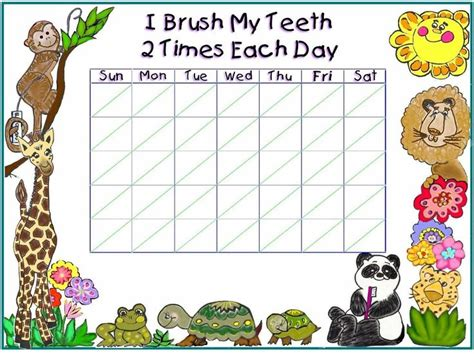 printable tooth brushing reward chart 1000 images about teeth dental health theme on
