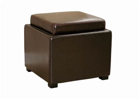 flip tray ottoman leather ottoman tv tray with reversible flip lid chicago