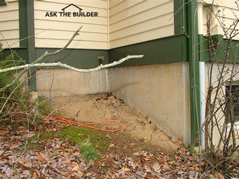 foundation sinking in one corner thickness of poured concrete foundation walls ask the