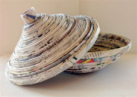Paper Crafts Recycled Newspaper - recycling of newspaper into useful articles stylishmods