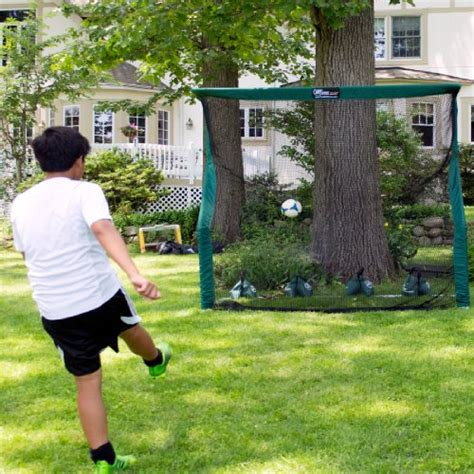 soccer goals for backyard backyard soccer goal net and rebounder b001o7ebs0 595 00