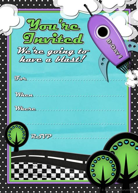 boys birthday invitations templates free free printable invitations rocket ship birthday