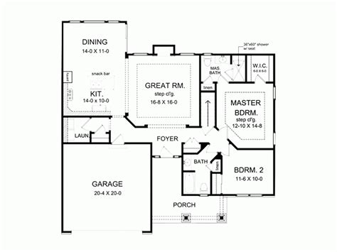 Eplans Ranch House Plan Spacious Ranch 1350 Square Master Bedroom Size In Feet