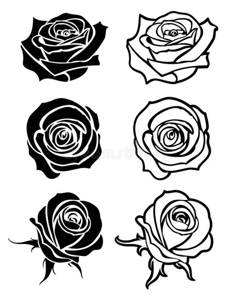rose tattoo logo up vector logos floral silhouettes