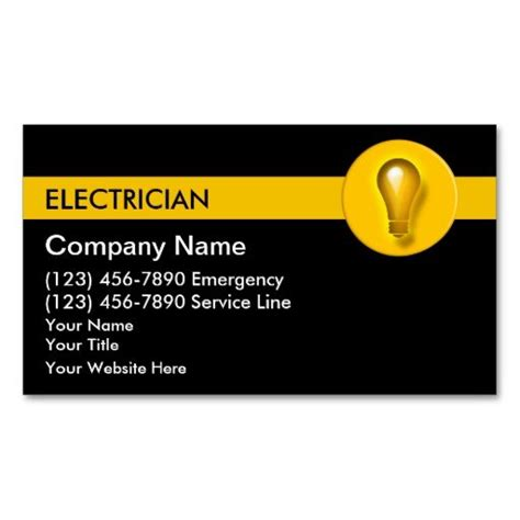 electrician business cards templates free electrician business cards