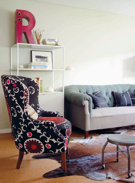 modern vintage living room modern vintage by emily chalmers eclectic living room