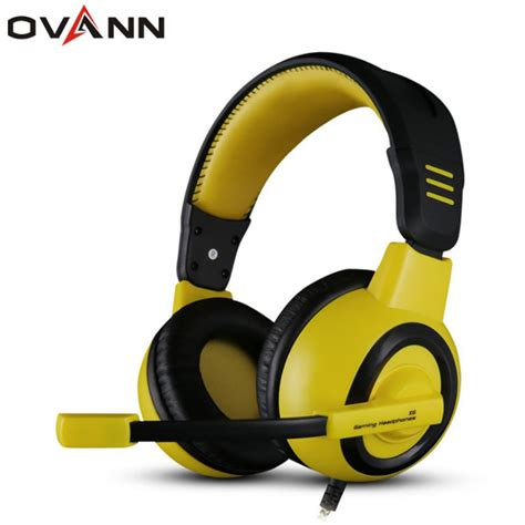 Headset With Mic Headphone Ovann X1 Professional Stereo Gaming ovann x6 3 5mm wired fashion comfortable big headphone professional esport gaming stereo bass