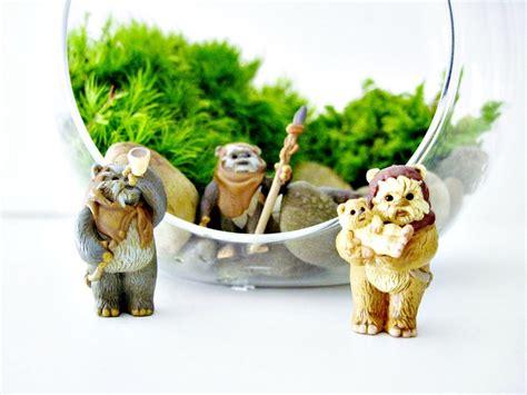 miniature star wars vintage ewok figurine for terrarium