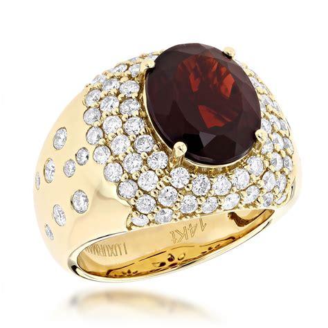 Right Ring Fashion 2 by Designer Jewelry Luxurman Fashion Garnet
