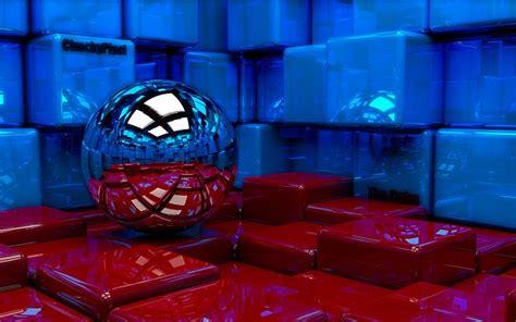 imagenes en 3d rojo y azul 3d rojo y azul cubos fondo de pantalla fondos de pantalla
