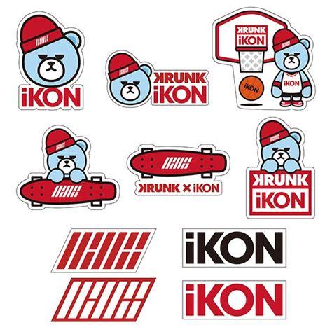 Kpop Stiker Velvet Sticker Photocard Import ikon japan tour 2016 krunk x ikon sticker set