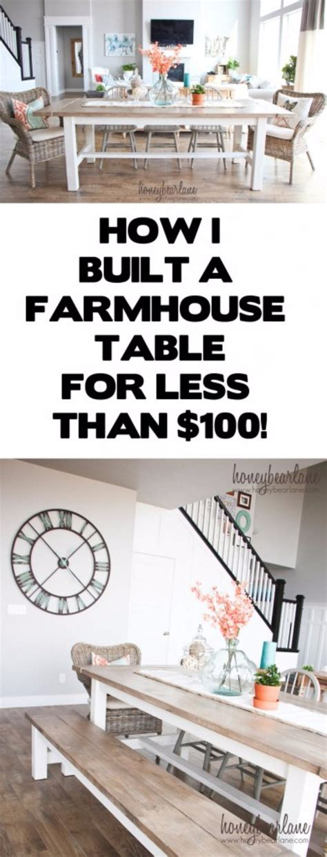diy farmhouse table and bench plans 36 diy dining room decor ideas