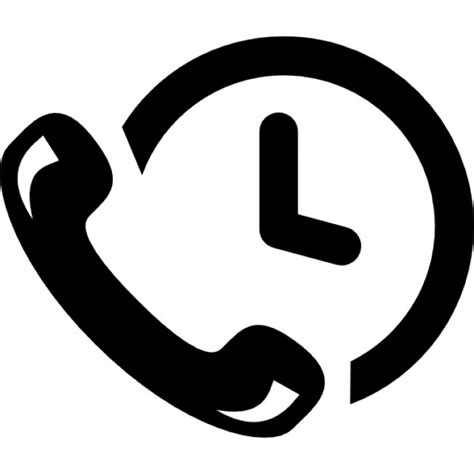 Minimal Desk phone auricular and a clock icons free download