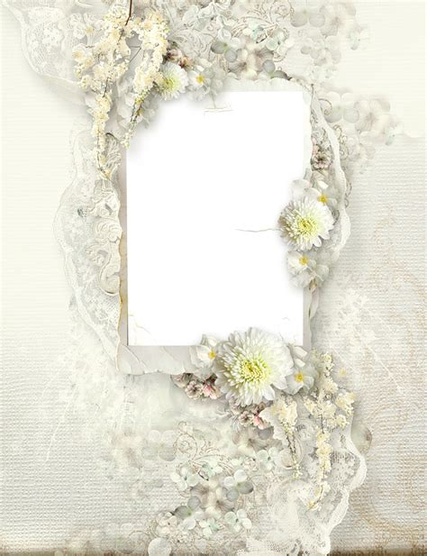 wedding layout png transparante delicate cream wedding frame vintage scrap
