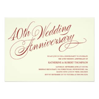 40th wedding anniversary invitation 40th wedding anniversary invitations announcements zazzle ca