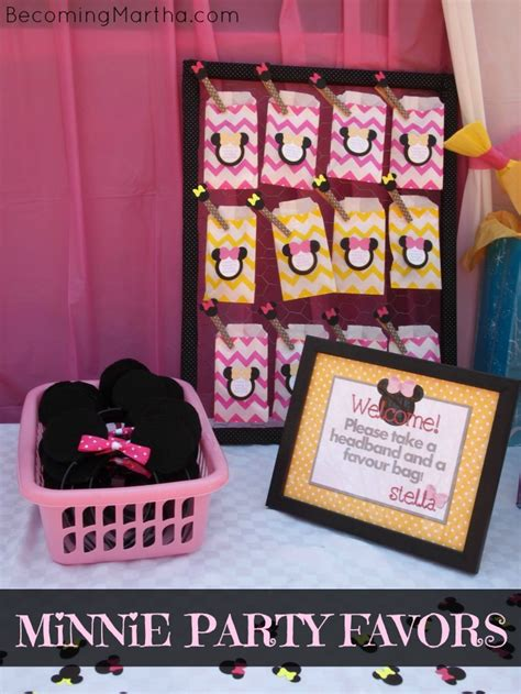 Minnie Mouse Party Giveaways - minnie mouse diy party favors