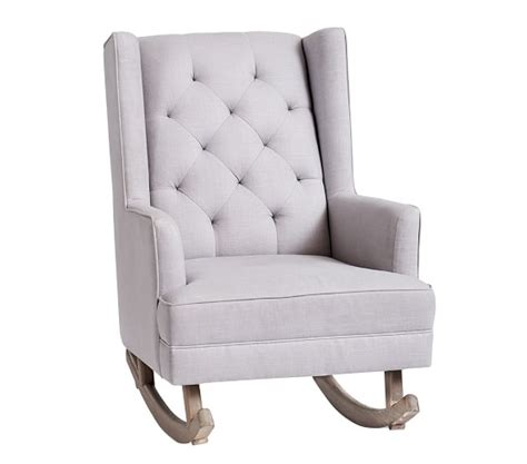 Convertible Ottoman Chair Modern Tufted Wingback Convertible Rocker Ottoman Pottery Barn