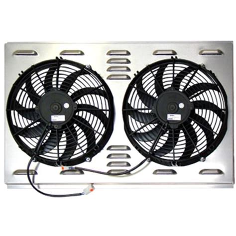 dual electric fans with shroud speedway 9174004 dual 12 inch electric fan shroud combo