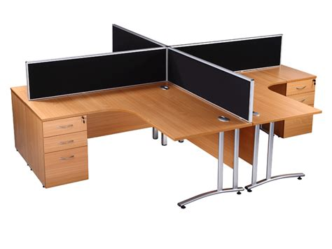 Used Office Desk Used Office Desks Endurance Radial Desk In Beech