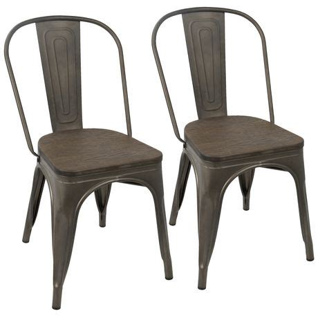 Walmart Chairs Dining Lumisource Oregon Stackable Industrial Dining Chair Walmart Ca