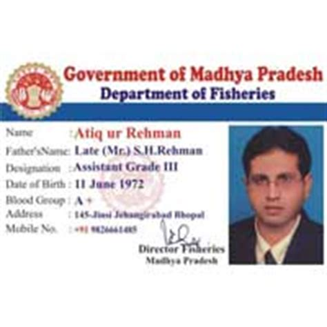 Govt Id Card Design | plastic transparent card manufacturers suppliers
