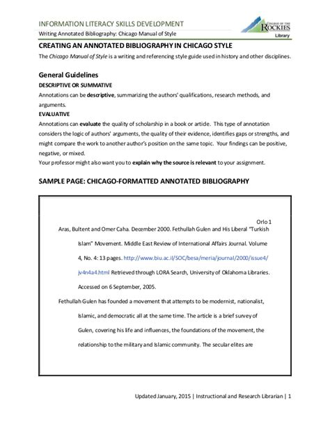 footnote format in chicago manual of style creating an annotated bibliography chicago manual of style