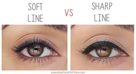 Eyeshadow Jadi Eyeliner eyeliner soft line vs sharp line point of view