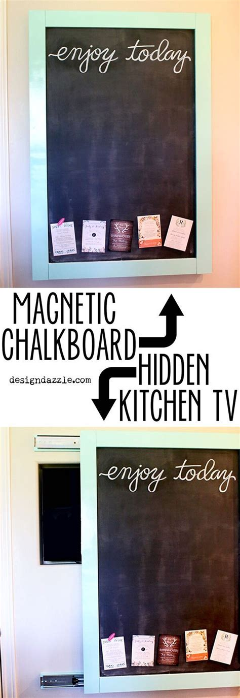 best diy crafts ideas this magnetic chalkboard slides to
