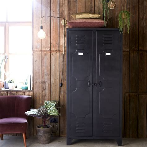 Metal Armoire Wardrobe by Metal Cupboard Range 2 Door Cupboards Tikamoon