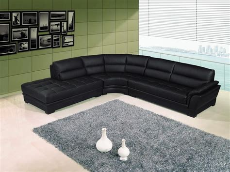 contemporary black leather sectional sofa left side chaise by coaster contemporary black leather sectional sofa left side chaise