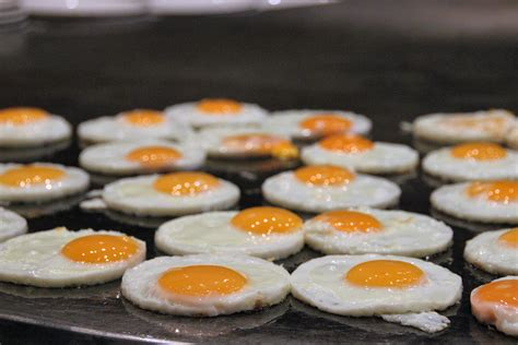 sunny side  eggs  griddle  stock photo