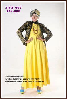 gamis jas dengan dress motif serasi simple dan