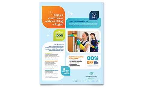 flyer design services cleaning services flyer template design