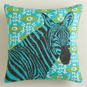 zebra graphic throw pillow world market