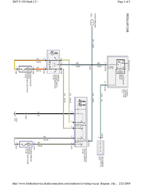 2007 ford f150 power window wiring diagram circuit and