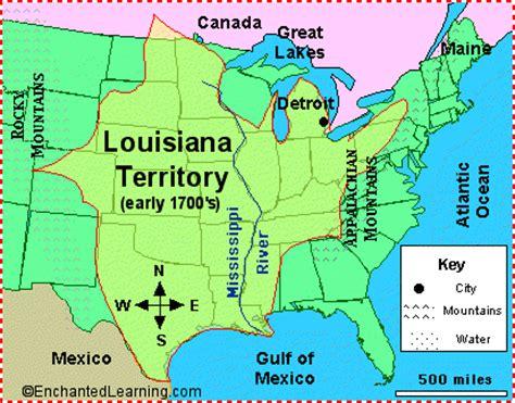 louisiana map enchanted learning antonie de cadillac explorer enchantedlearning