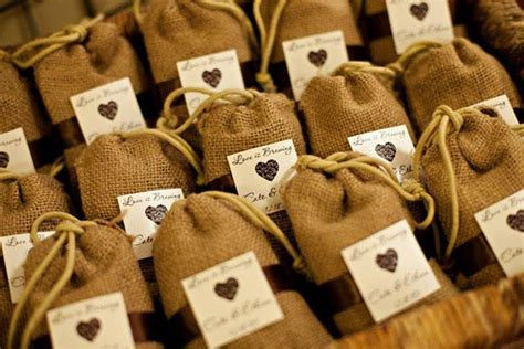 wedding favor burlap bags burlap favor bag enaq s touch