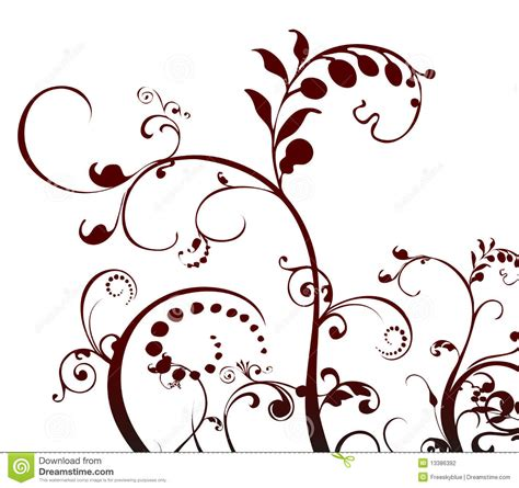 pattern plant drawing plant and vines pattern stock illustration image of