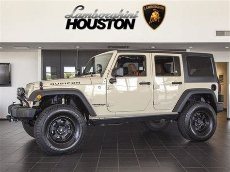 buy used 2011 jeep wrangler unlimited rubicon 4x4 dune tan saddle manual pro comp nav in houston