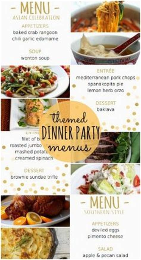 four themed dinner menus with recipes and printable - Dinner For Four Menu Ideas