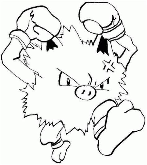pokemon coloring pages golduck pokemon mankey coloring pages images pokemon images