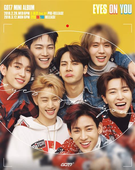 got7 group photo update got7 shares preview of newest mini album eyes on
