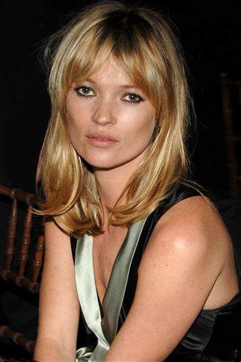 Kate Moss Cuts Bangs Em Or Em by Kate Moss Bangs Shoulder Length Cut Skin