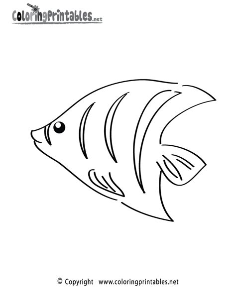 tropical fish coloring page a free ocean coloring printable