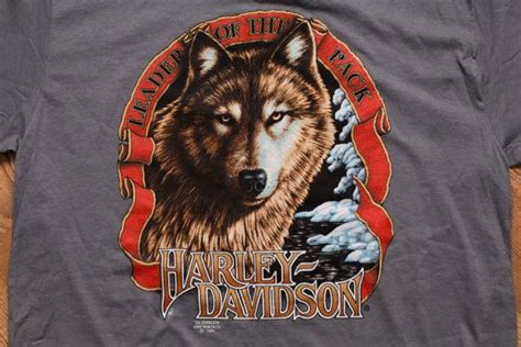 harley wolf for two 3d emblem harley davidson leader of the pack wolf t shirt vintage 90s d wolves and harley